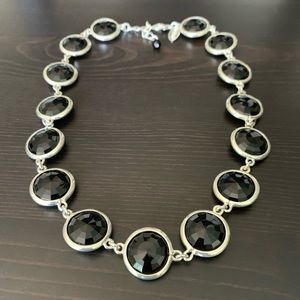 WHBM Black and Silver Necklace